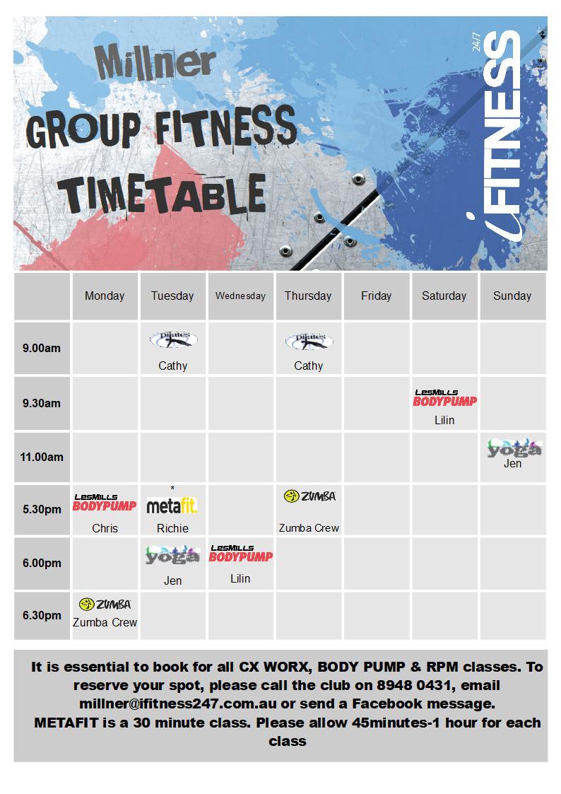 MILLNER 2018 - timetable (2)