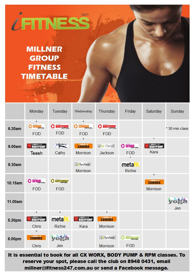 MILLNER - May timetable