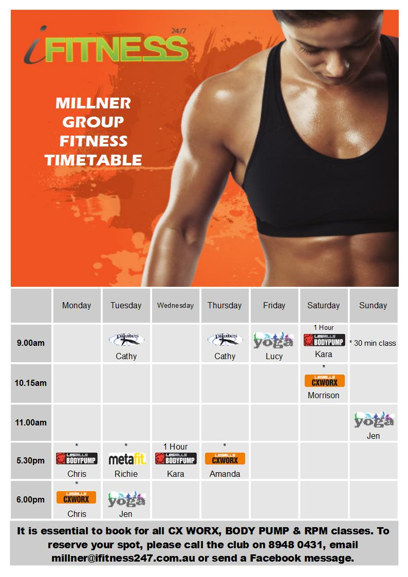 MILLNER - Oct timetable
