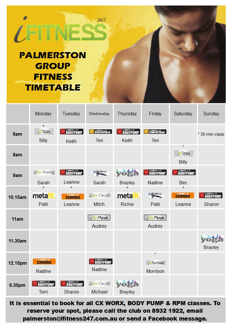 Palm - May timetable